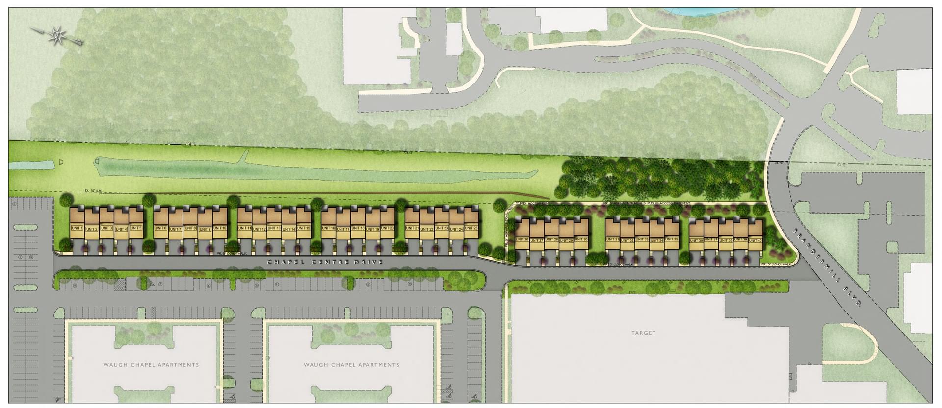 Villas at Waugh Chapel Towne Centre  - Site Plan