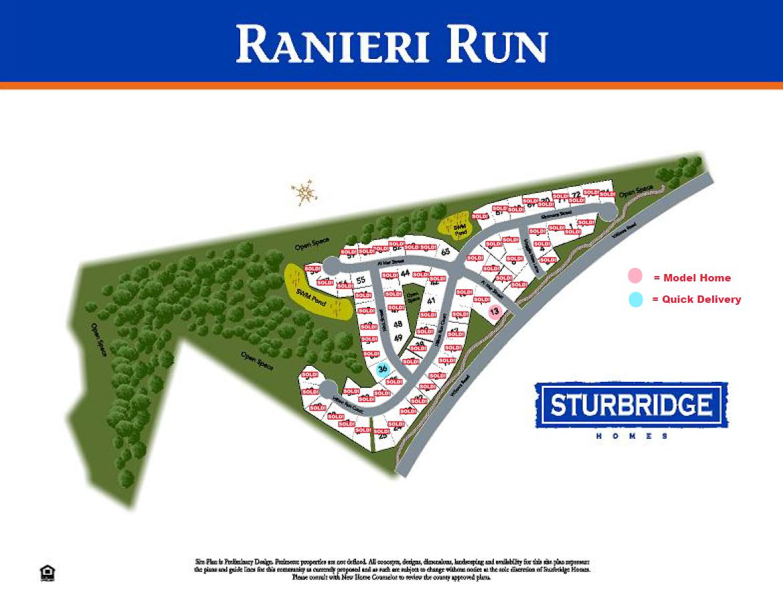 Ranieri Run  - Site Plan