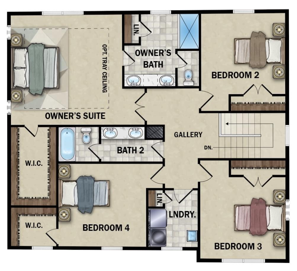 Second Floor - Elevation 1