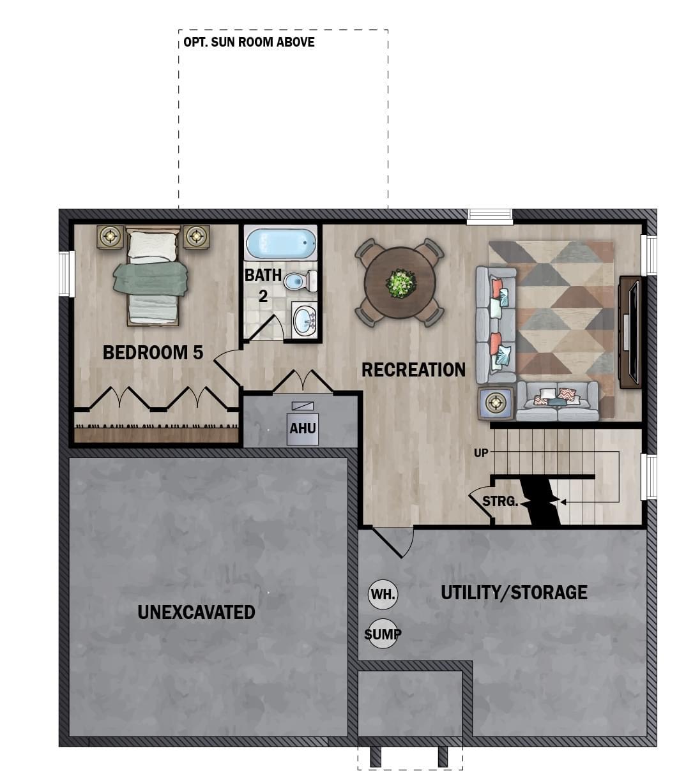 Optional Finished Basement Plan
