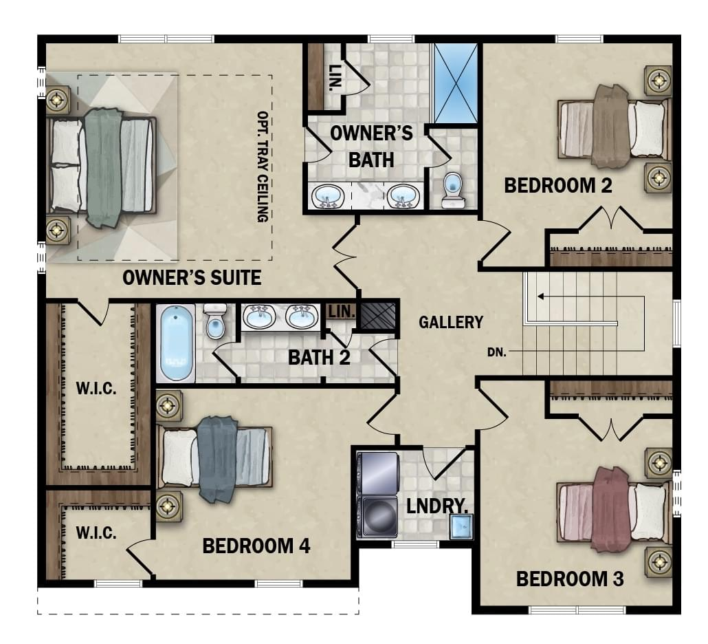 Second Floor - Elevation 2 Option