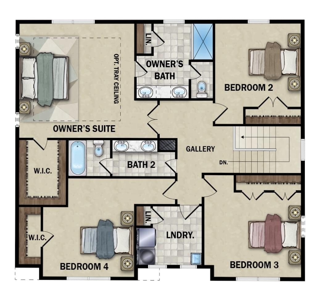 Second Floor - Elevation 3 Option