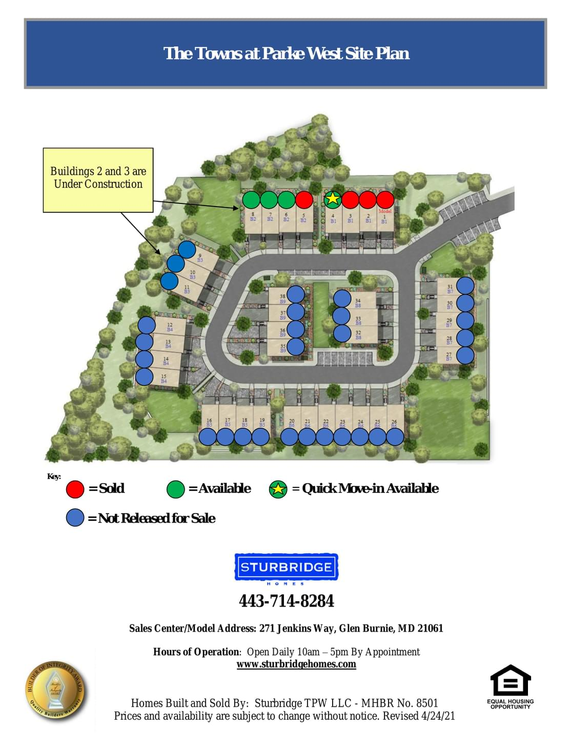 Towns At Parke West  - Site Plan